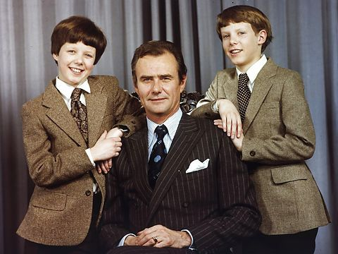 scanpix:  Frederik, Henrik and Joachim of Denmark, 1980
