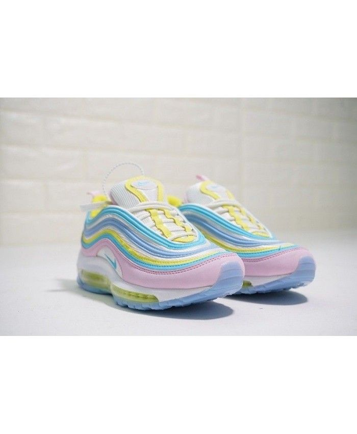64b8b06f35 Women's Nike Air Max 97 White Rainbow Trainer | Pin all you love in ...