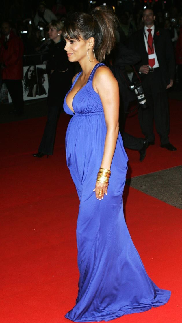 Halle Berry is pregnant and starred in the movie X-Men 04/23/2013 15