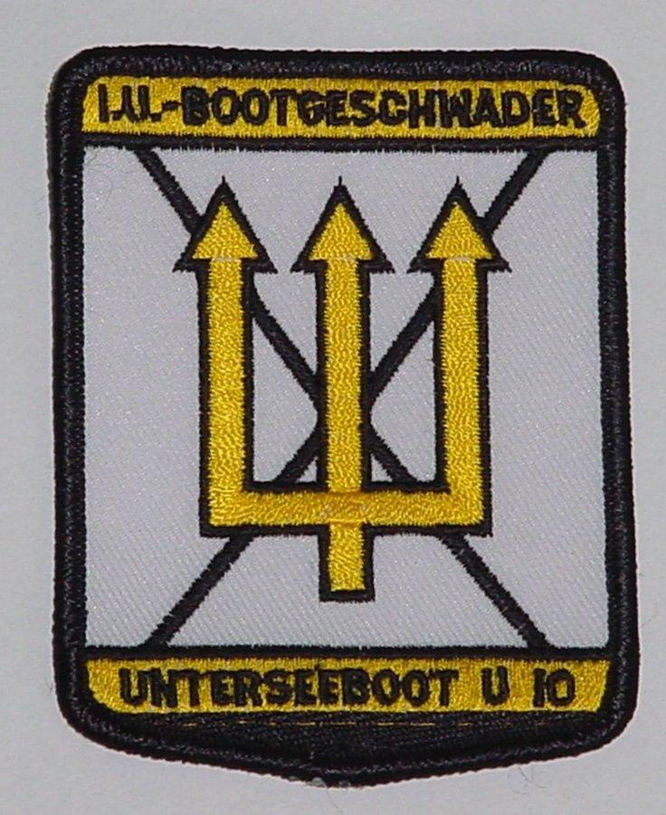 "Marine Patch Aufnäher 1. UBootgeschwader Unterseeboot U-Boot ""U10"