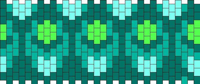 Peacock Design Kandi Pattern