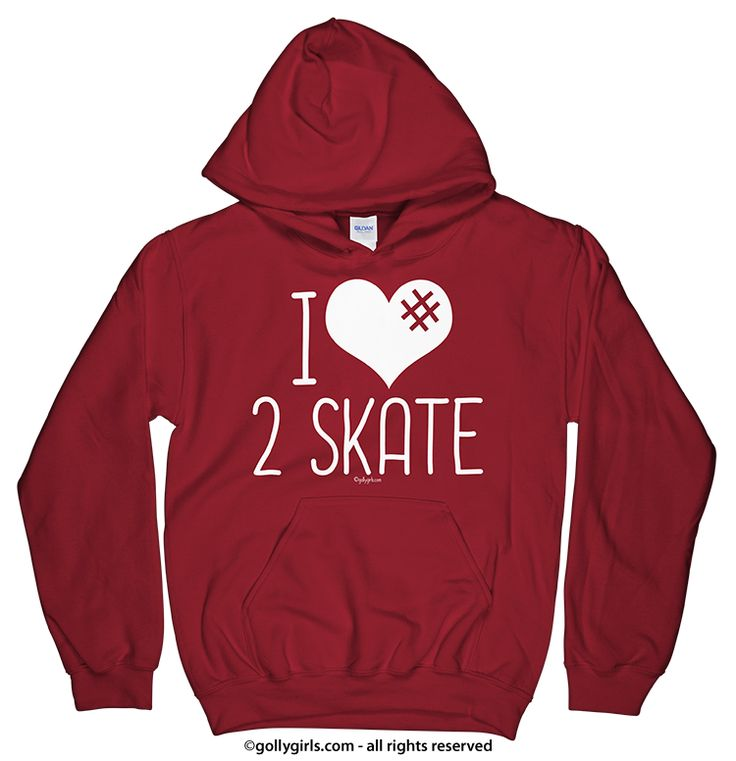 I Hashtag Heart 2 Skate Hoodie (Youth & Adult Sizes)