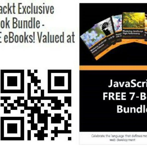 """Free eBook: """"Packt Exclusive JavaScript eBook Bundle - Includes 7 FREE eBooks! Valued at over $170"""" http://goo.gl/wGXliI"""