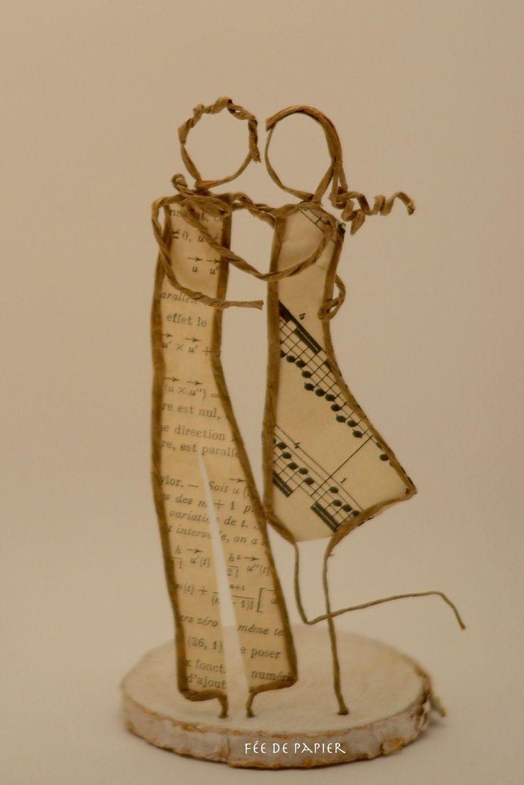 Fée de papier - Les amoureux - Technique by epistyle.blogspot.fr
