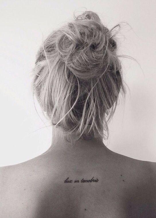 73 best tattoos images on pinterest tattoo ideas tattoo for Lux in tenebris tattoo