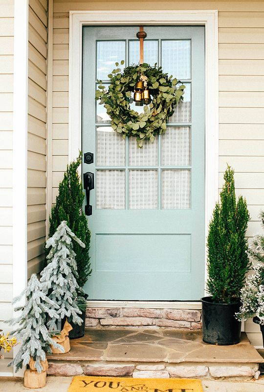 Nice Front Door Makeover   In Honor Of Design   Rainy Afternoon By Behr.
