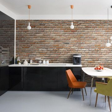 Brick Wall Wall Mural, $89, now featured on Fab.#totally awesome and why didn't i think of this earlier?