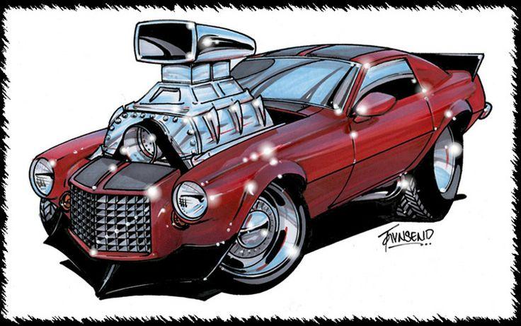 Old Fashion Cartoon Car Engines