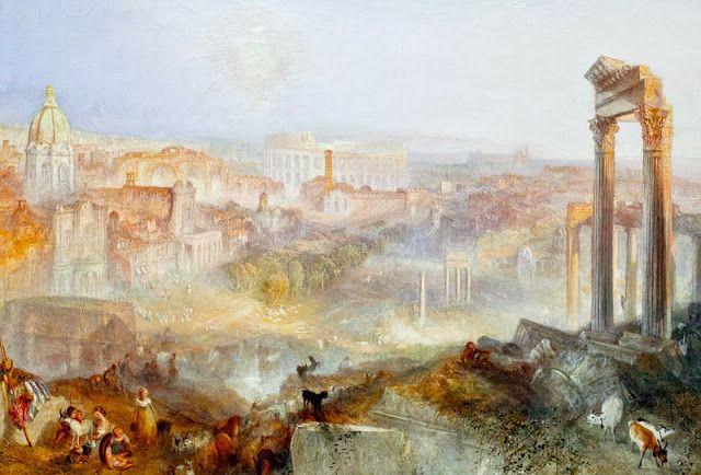 JMW Turner, Rome modern- Campo Vaccine, 1839