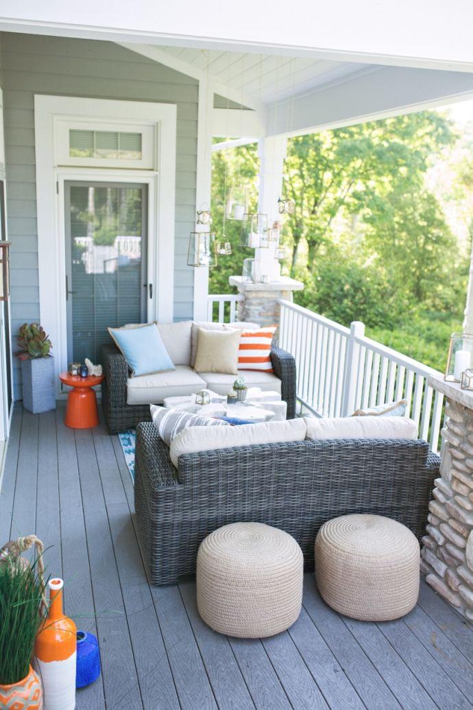 Small Outdoor Setting Part - 36: Dash + Albert Outdoor Poufs, Outdoor Setting, Outdoor Small Space Seating,  Brown Jordan