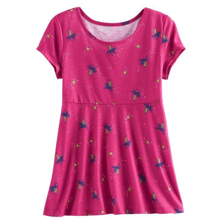 Girls 7-16 & Plus Size SO® Patterned Swing Legging Tee, Size: 18 1/2, Med Pink