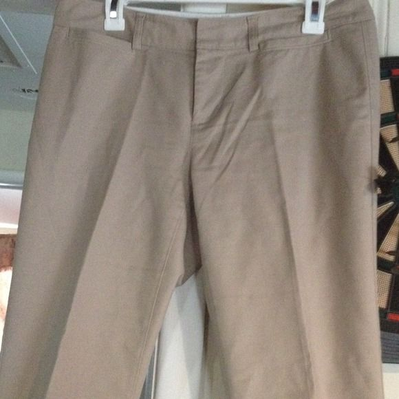 Banana Republic beige trouser Banana Republic Trouser  flare on bottom 97%cotton 3spandex Banana Republic Pants Trousers