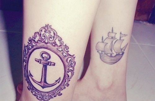 : Tattoo Ideas, Ships Tattoo, Nautical Tattoo, Anchor Tattoos, Legs Tattoo, Tattoo'S, Anchors Tattoo, A Frames, Ink