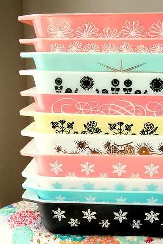 colors and patterns and pyrex, oh my!