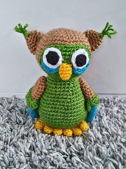 Jamin / sovička Hugo crochet owl