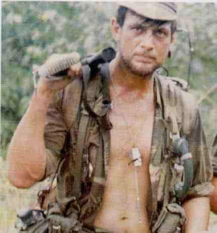 Chris Schulenburg, a legend of the Rhodesian Bush War. As a 'Selous Scout' he conducted solo recce missions of terrorist training camps deep in enemy territory. He did what no other man could, or would, do.