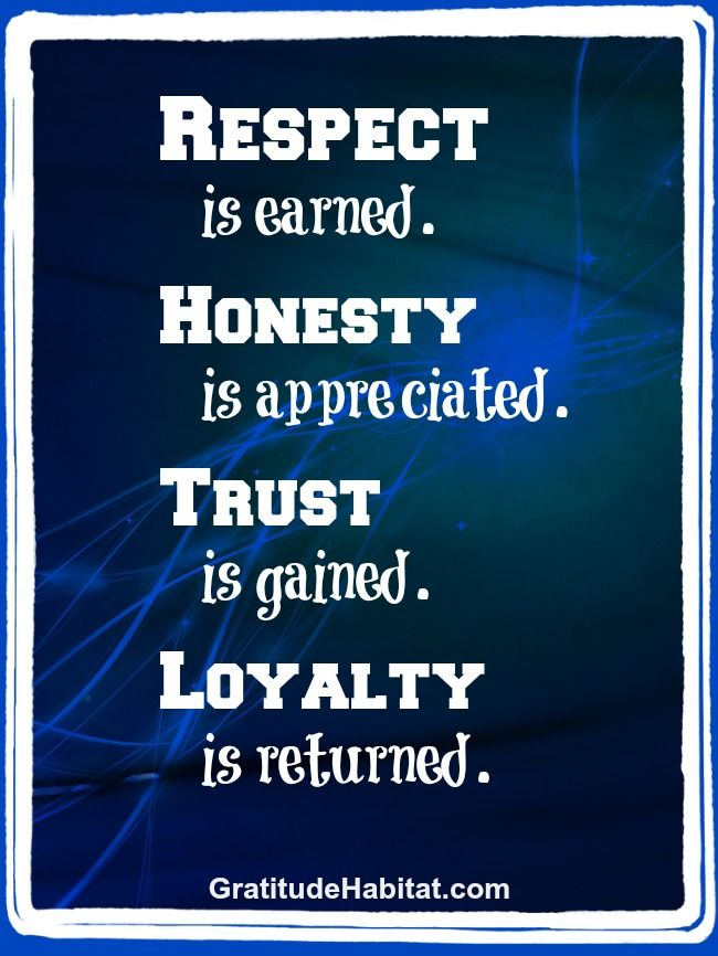 Respect  honesty  trust  loyalty   inspiration Visit us at  www    Quotes About Trust And Loyalty