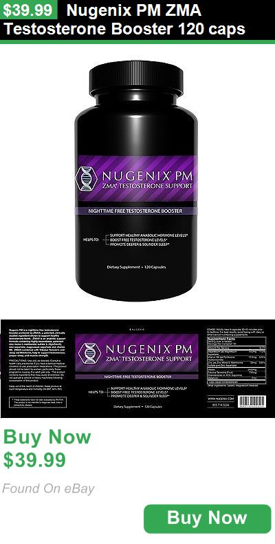 Other Sports Supplements 97036: Nugenix Pm Zma Testosterone Booster 120 Caps BUY IT NOW ONLY: $39.99