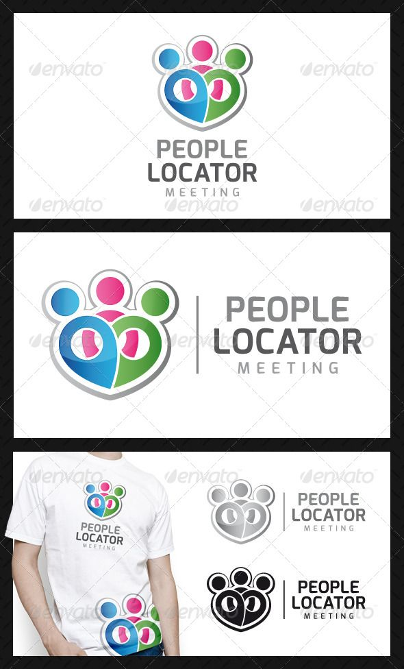 People Locator Logo Design Template Vector #logotype Download it here: http://graphicriver.net/item/people-locator-logo-template/4671812?s_rank=460?ref=nesto