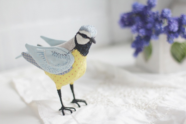 DIY Inspiration - Stitched BirdieBirds Birds, Stitches Birds, Soft Toys, Http Berryvogu Com Toys, Finding Plush, Elfima, Blue Tits, Pretty Birds, Plush Toys