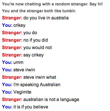 Omegle, where are these people?
