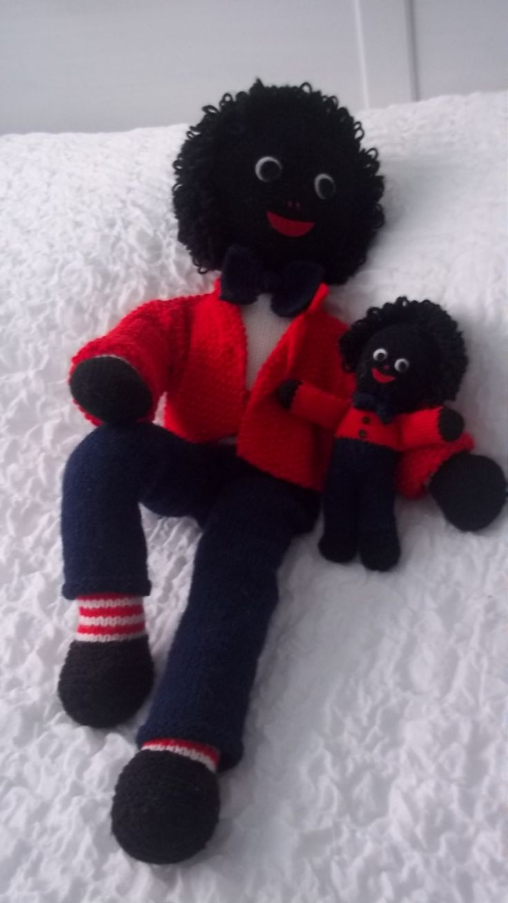 Knitted Gollies I Love Golliwogs Pinterest