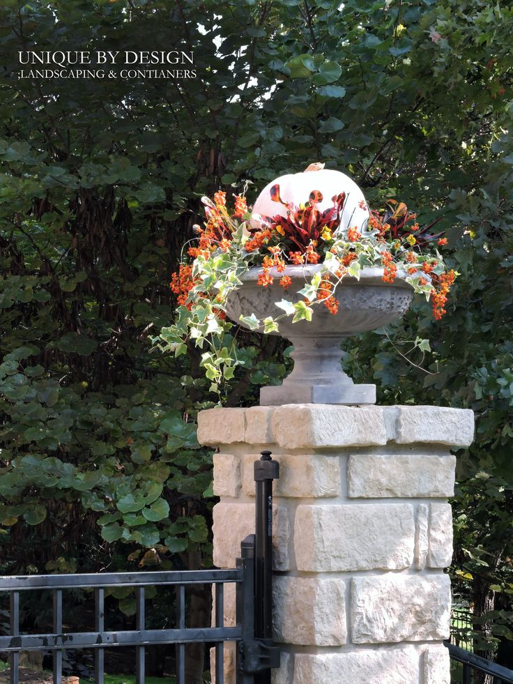 Fall Container l Unique by Design Great Gardens Ideas