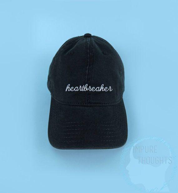 HEARTBREAKER Baseball Cap Dad Hat Low Profile by IMPURETHOUGHTS