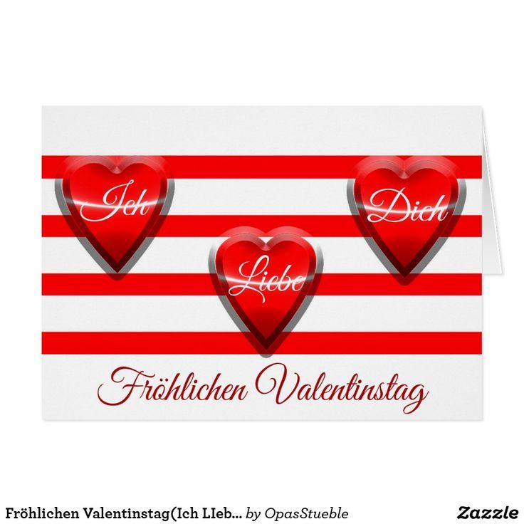 Fröhlichen Valentinstag(Ich LIebe Dich) Card