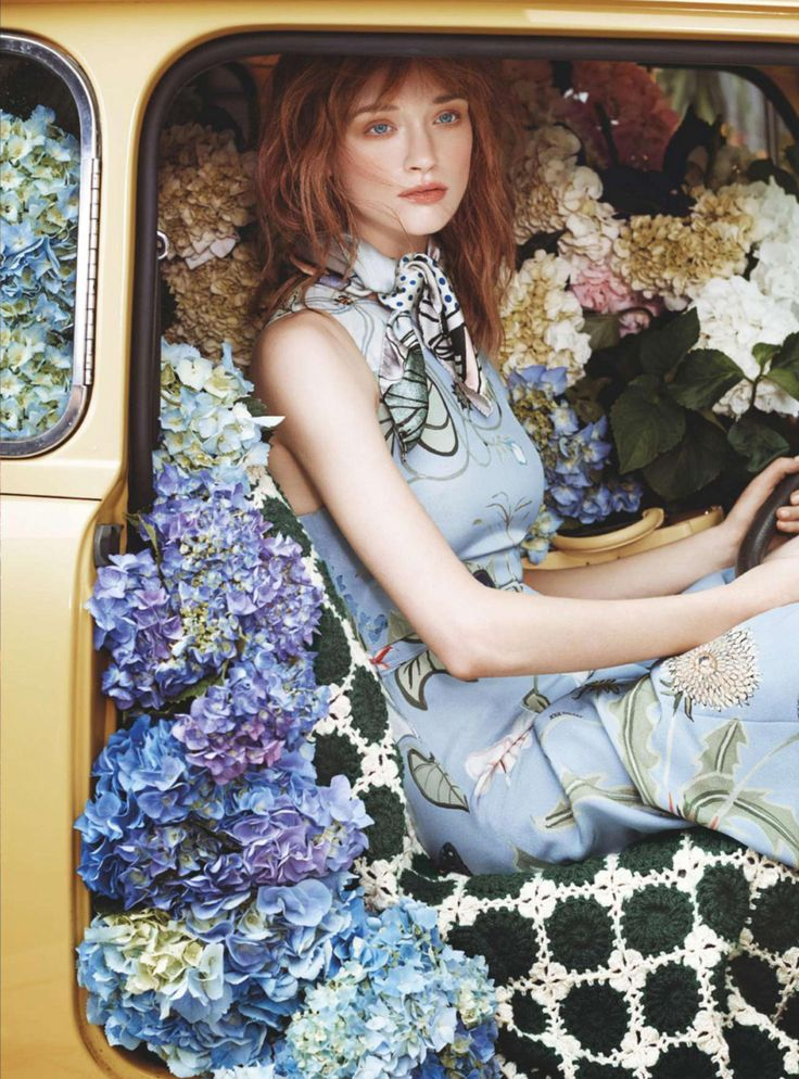 Olivia O'Driscoll Blooms For Marie Claire Australia February 2015