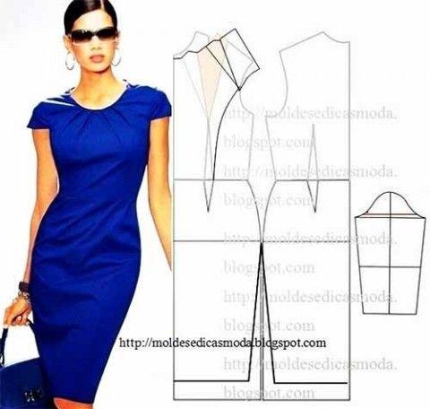 Los patrones simples de los vestidos elegantes
