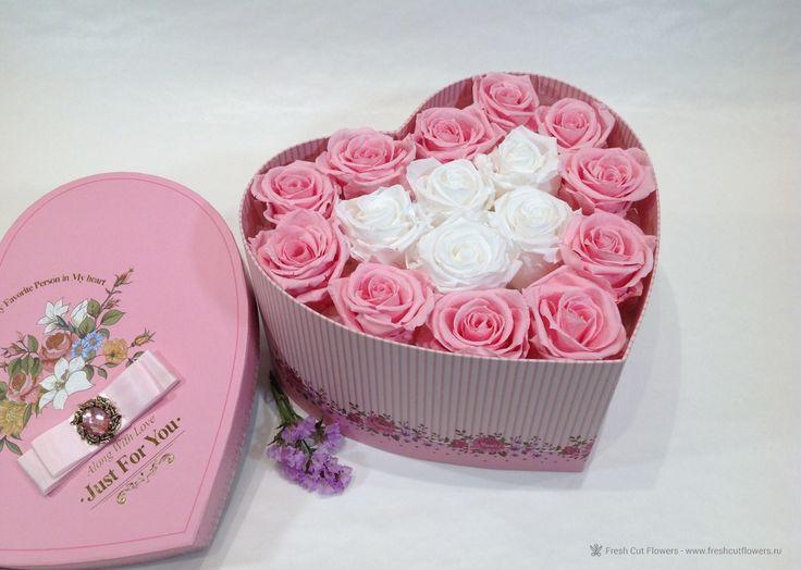 Розы которые никогда не завянут. Стабилизированные розы. Подарки, День Святого Валентина. Доставка, онлайн заказ.