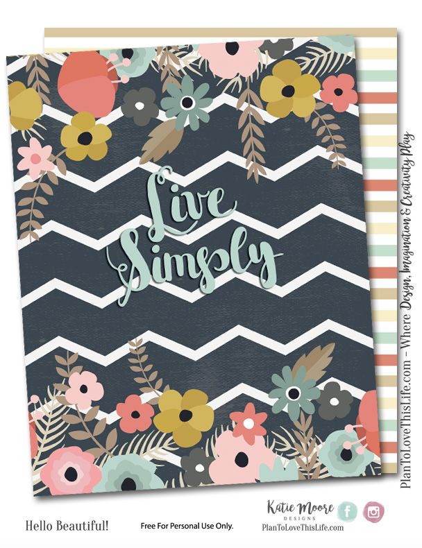 Free Live Simply Printable Happy Planner Cover Set from Plan to Love This Life {store checkout required}