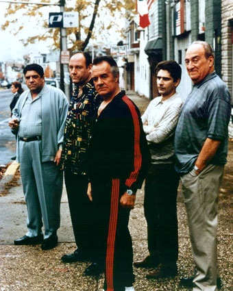 Big Pussy, Tony, Paulie, Christopher, and Hesh