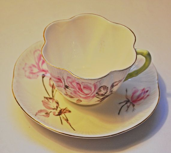 Shelley Teacup And Saucer Second Ware Rosalie Pattern