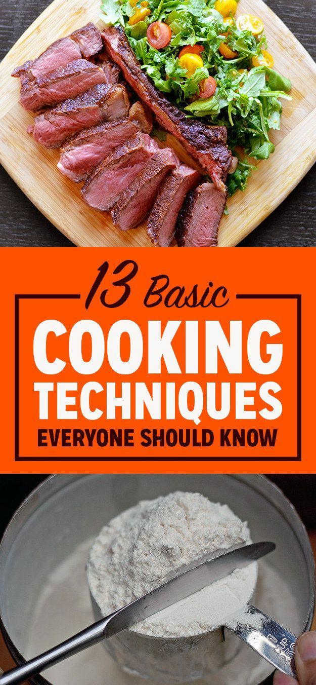 13 Basic Cooking Techniques Everyone Should Know