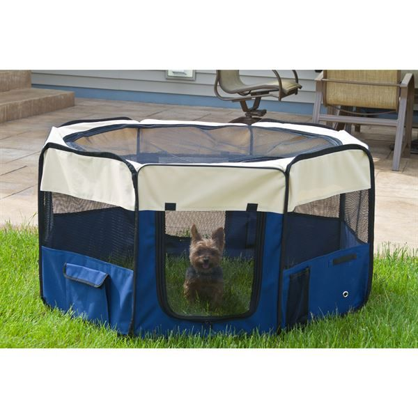 These lightweight, portable dog pens quickly unfold for an instant indoor or outdoor pen for your dog or other small pet.