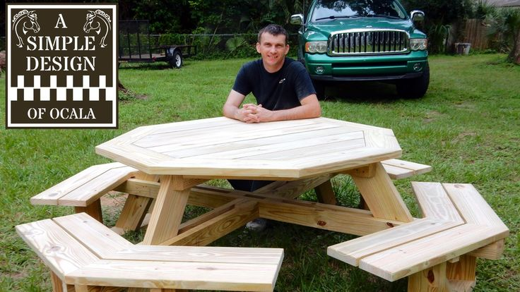 This is Part 1 of a new build. How to build an Octagon Picnic Table. For as long as I can remember I wanted to build an Octagon Picnic Table and I looked eve...