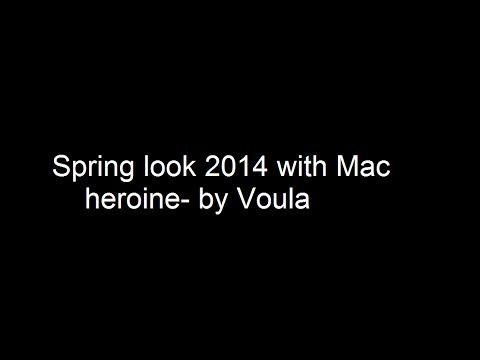 Spring look 2014 with Mac Heroine-by Voula