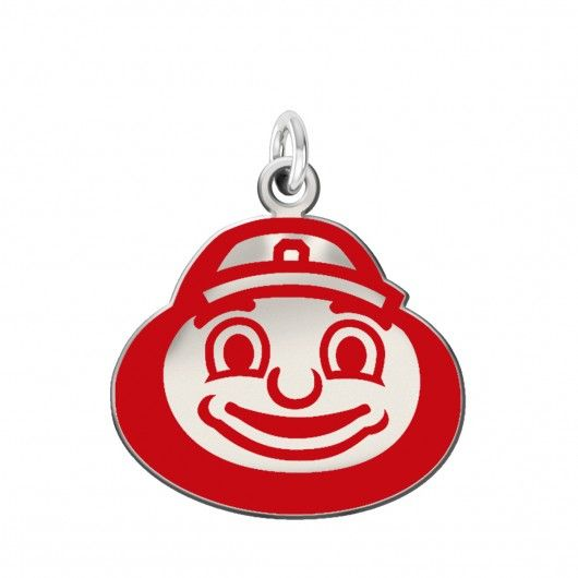 Ohio State Buckeyes Color Logo Charm  Solid sterling charm in Ohio State Colors. This charm features a silver background with blue accents. A grueling 10 step manufacturing process results in a unique charm that represents the Buckeyes spirit with exact detail. Spirit with style!  #the #ohio #state #university #buckeyes #jewelry