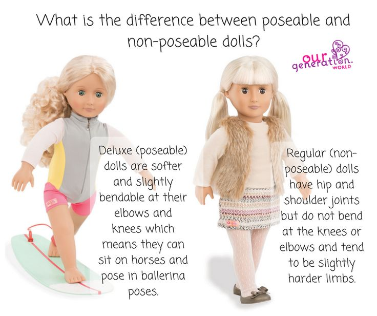 We often get asked the difference between Deluxe and Regular #dolls... so here's the answer!