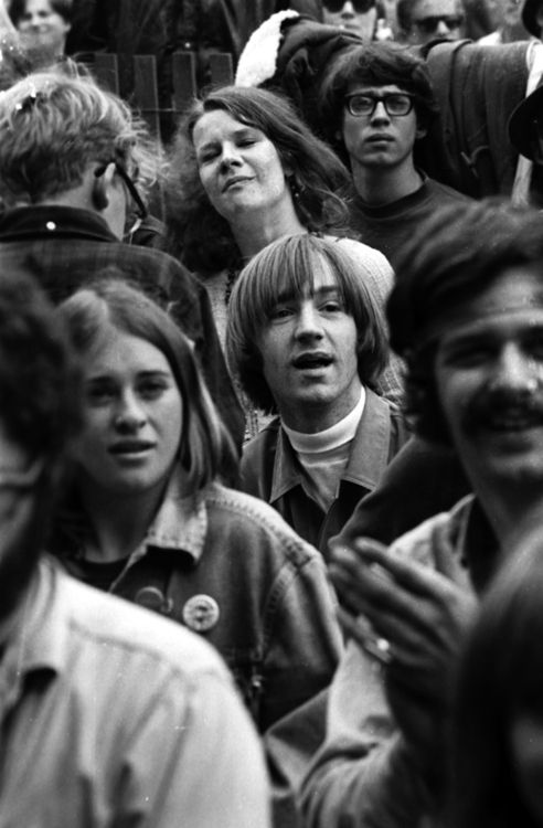 Janis Joplin and Peter Tork at the Monterey Pop Festival, June 1967