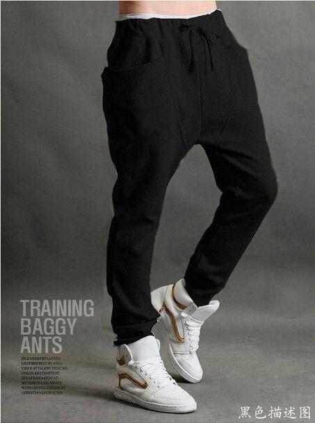 2013 men's clothing male sports pants Men casual pants plus size trousers loose male trousers,sweatpants for men