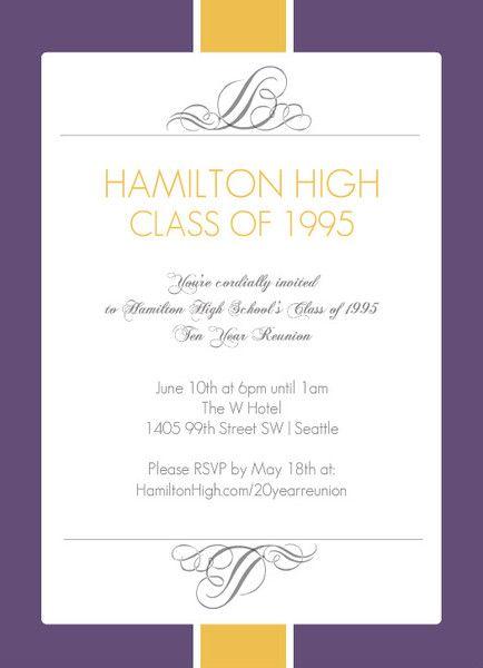 Best 25+ Class reunion invitations ideas on Pinterest Reunion - formal dinner invitation sample