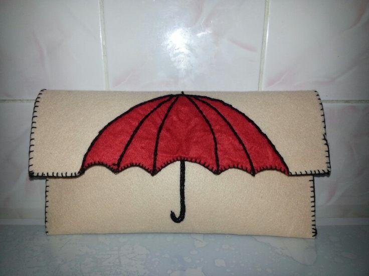 Umbrella Felt bag. Semsiye Keçe çanta.