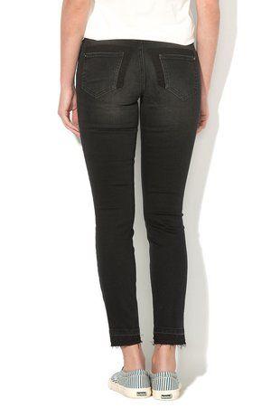 Blugi skinny negru stins ieftini dama Carmen #pantaloni #jeansi #BlugiDama