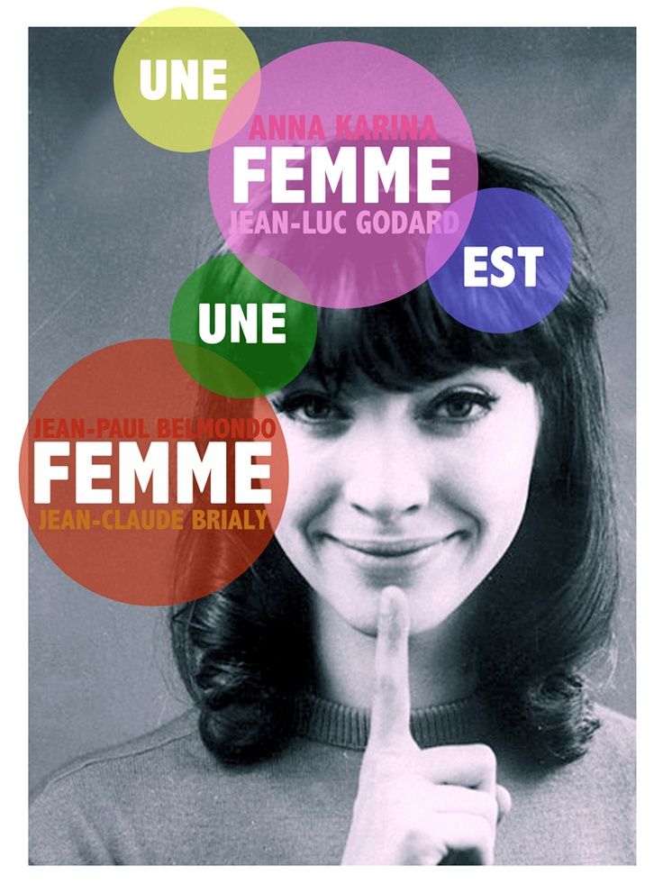 une femme est un femme (a woman is a woman) Initial release: September 6, 1961 (France) Director: Jean-Luc Godard