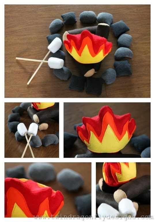 I love this Felt Campfire Pattern from Twin Firefly Designs!