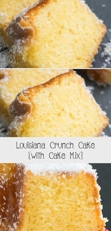 Classic southern quick easy louisiana crunch cake recipe
