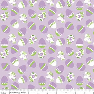 Riley Blake Designs - Holiday Banners - Easter Eggs in Purple